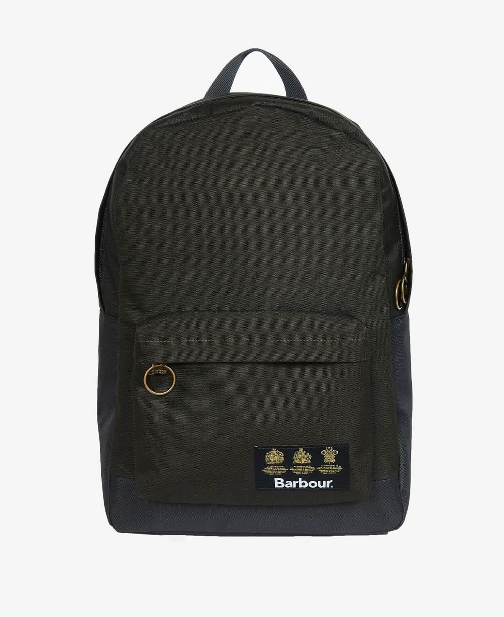 Barbour Highfield Canvas Backpack  Navy/Olive-1
