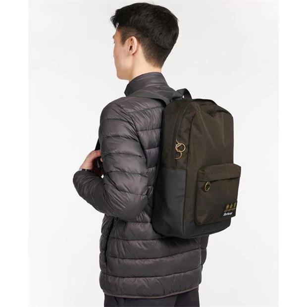 Barbour Highfield Canvas Backpack  Navy/Olive-4