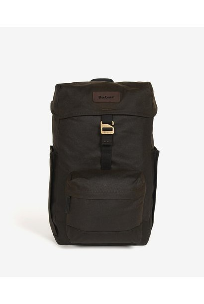 Barbour Essential Wax Backpack  Olive