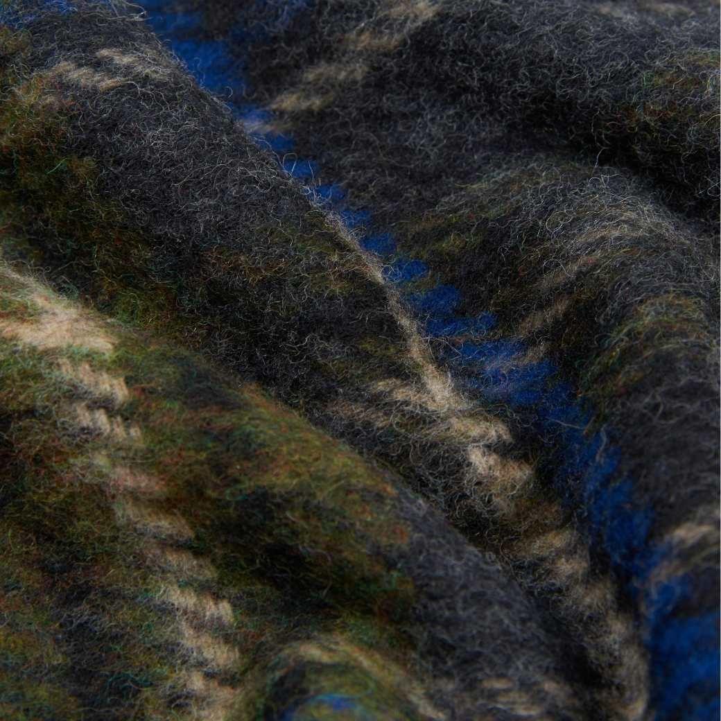 Barbour Evanton Tartan Scarf By Moons Charcoal Grey-4