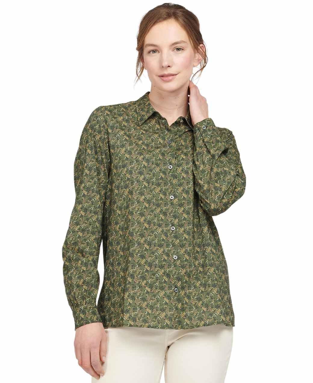 Barbour Hindscarth Shirt Sage Print-2