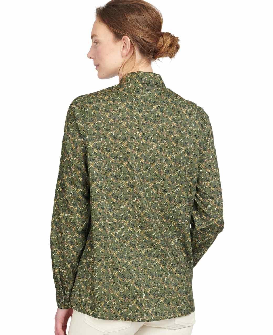 Barbour Hindscarth Shirt Sage Print-3