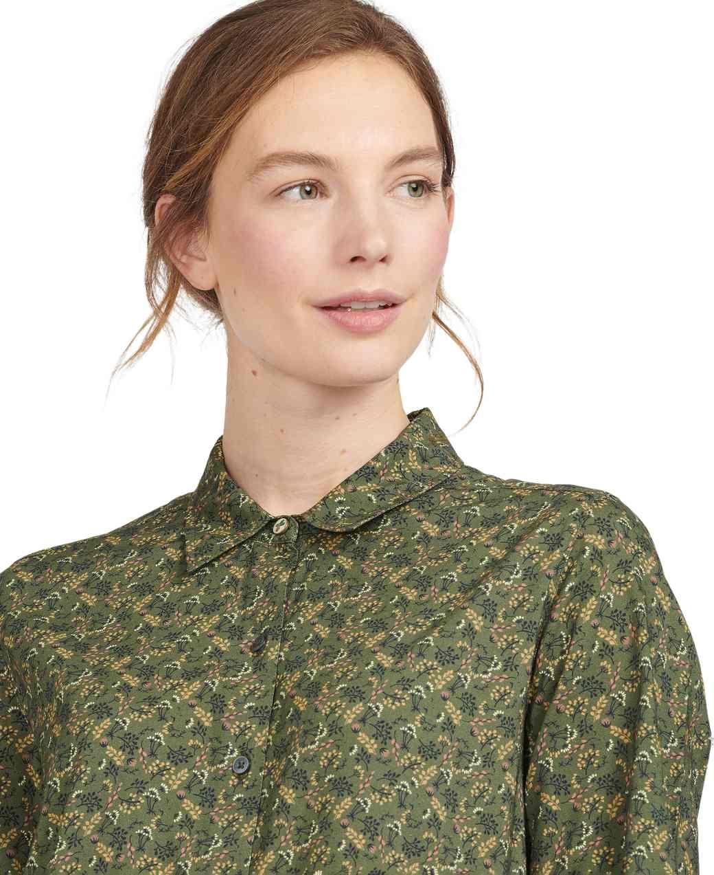 Barbour Hindscarth Shirt Sage Print-4