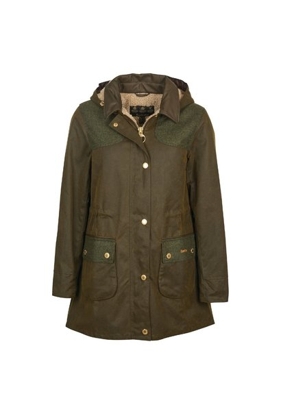 Barbour Keiss Wax Olive/Natural