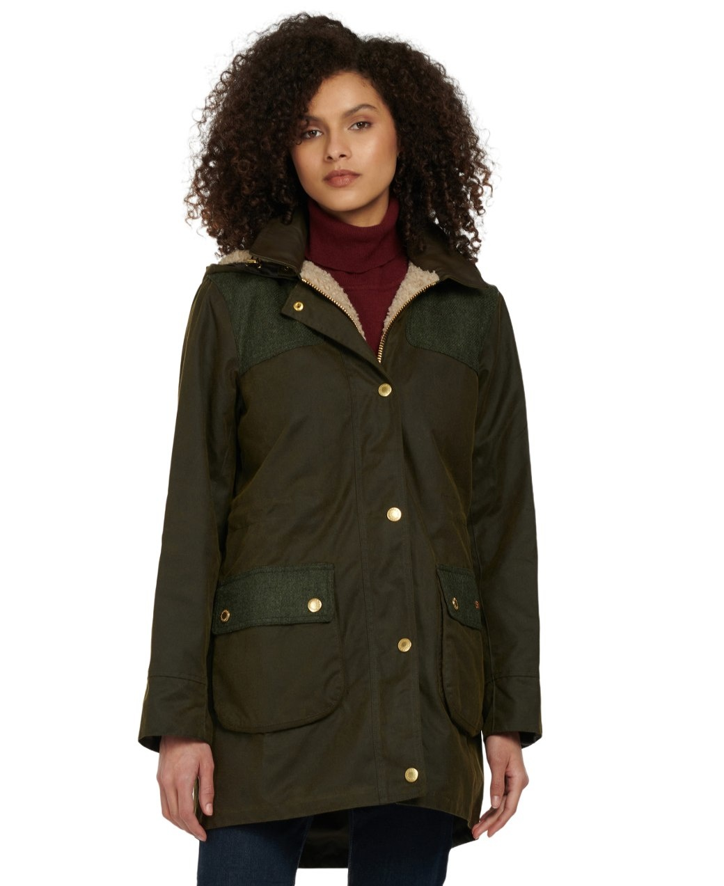 Barbour Keiss Wax Olive/Natural-2