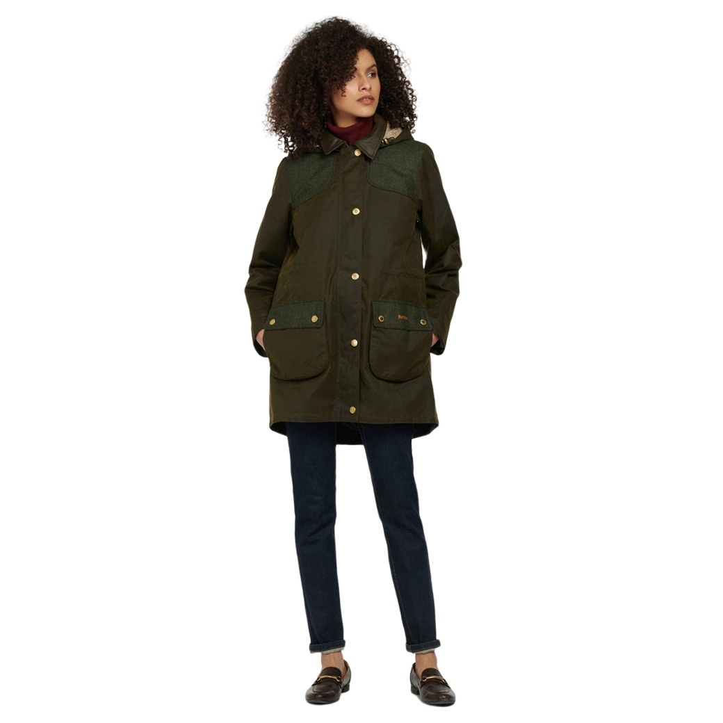 Barbour Keiss Wax Olive/Natural-5