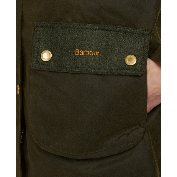 Barbour Keiss Wax Olive/Natural-6