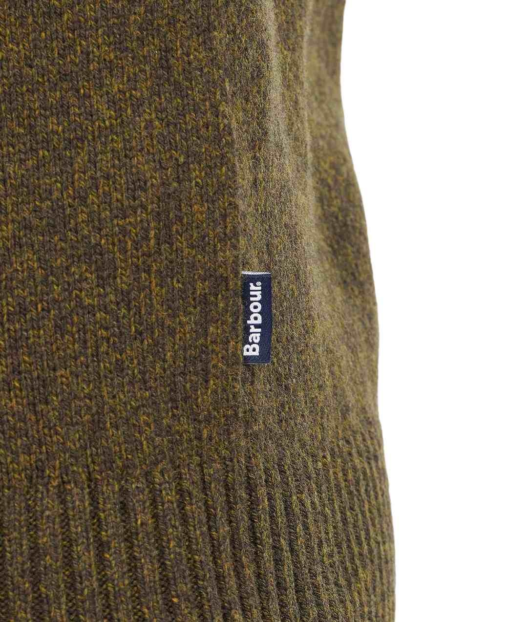 Barbour Sid Crew Olive Marl-5