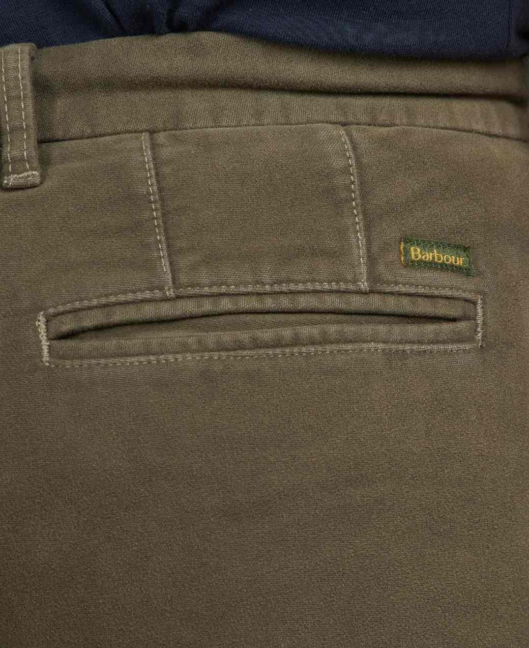 Barbour Neuston Moleskin Trouser Dark Olive-5