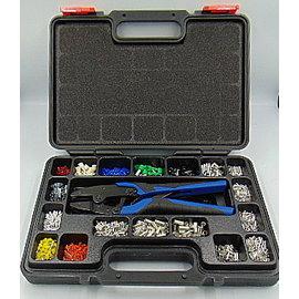 Cable-Engineer Adereindhulzen set met krimptang,  2 profielsets en 3700 adereindhulzen
