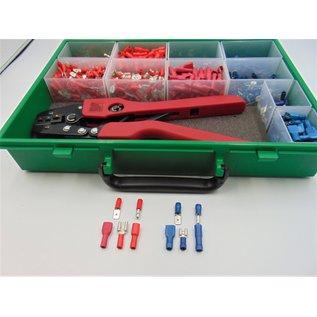 Cable-Engineer Kabelschoenen kit Barcelona 10 met solide krimptang en 1100 kabelschoenen