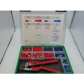 """Cable-Engineer Kit """"Barcelona 10"""": 1100 kabelschoenen met krimptang"""