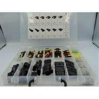 TE Connectivity AMP 1.5 Superseal Terminal Wiring Kit 350 delige set met 1P, 2P, 3P, 4P, 5P en 6 Polige Terminals