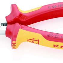 Knipex Knipex Platspitse tang met zijsnijder VDE 1000V.  200mm -Punttang /  telefoontang  26 16 200