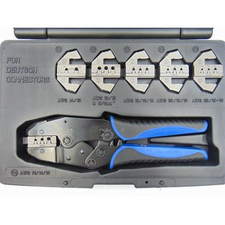 Cable-Engineer Multi Krimptang met 6 verwisselbare profielen speciaal voor Deutsch Connectoren