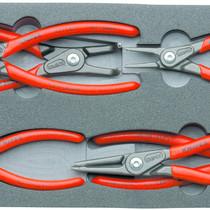 Knipex Professionele Precisie-borgveertangen set van Knipex met 6 verschillende borgveertangen