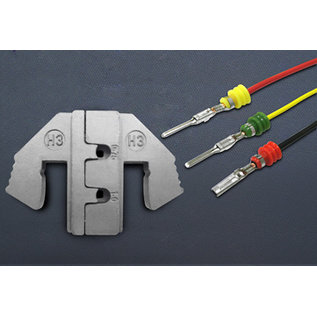 """Cable-Engineer Krimp-profielset voor 10"""" krimptang van Cable-Engineer special voor de AMP Superseal terminals in de maten DIN 0.75 / 1.0mm2"""