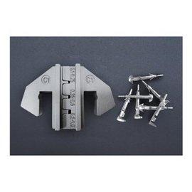 Cable-Engineer Krimp profiel set voor open barrel terminals: 0,1-0,25 / 0,25-0,5 / 0,5-1.0 (AWG 26-24 / 24-22 / 22-18)