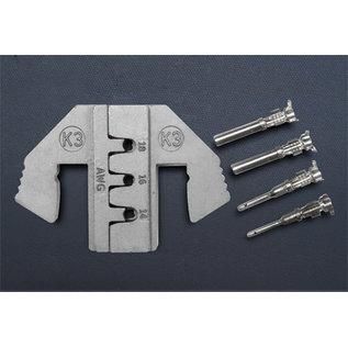 """Cable-Engineer DEUTSCH DT Krimpprofiel -set voor 9""""en 10"""" krimptang met wisselsysteem speciaal voor DEUTSCH DT Stekkers van 1.0, 1.5 en 2.5mm2"""