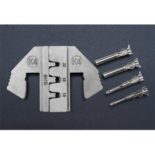 """Cable-Engineer DEUTSCH DT Krimpprofiel -set voor 9""""en 10"""" krimptang met wisselsysteem speciaal voor DEUTSCH DT Stekkers van 1.0, 1.5 en 2.5mm2 - Copy"""