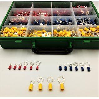 Cable-Engineer Kit Ringmaster 16: 1450 Professionele Ring kabelschoenen voor draad Ø 0,5 t/m 6mm in RAACO verzameldoos