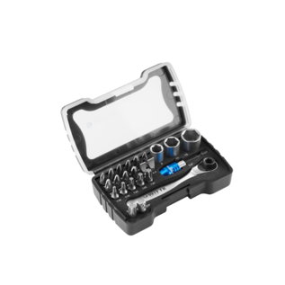 Witte Werkzeuge WITTE Bits en doppen-set met ratel 24-delig  - 31200