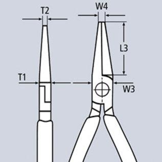 Knipex Knipex Platspitse tang met zijsnijder  200mm -Punttang /  telefoontang  26 15 200