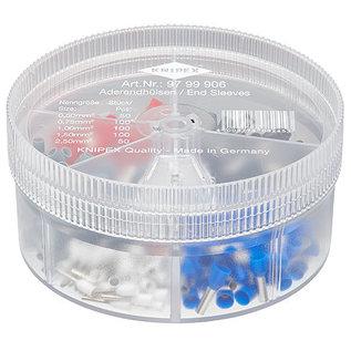 Knipex Knipex assortimentbox  geïsoleerde adereindhulzen 0,5 / 0,75 / 1 / 1,5 en 2,5mm2 9799906