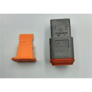 TE Connectivity Deutsch DT Pigtail-set: 2-Pos. Plug (man) connector + 2x 2meter 1,5mm2 FLRY-B kabel
