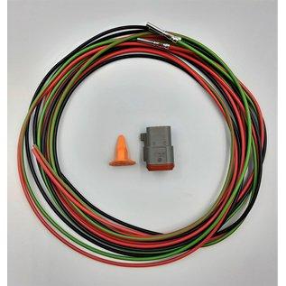 TE Connectivity Deutsch DT Pigtail-set: 3-Pos. Plug (man)+ 3x 2meter 1,5mm2 FLRY-B kabel