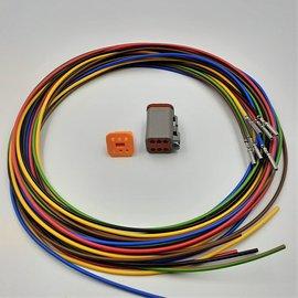 TE Connectivity DT set: 6-Pos. Plug + 6x 2m. 1,5mm2 kabel