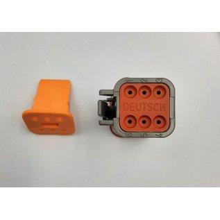 TE Connectivity Deutsch DT Pigtail-set: 6-Pos. Plug (man) + 6x 2meter 1,5mm2  FLRY-B kabel