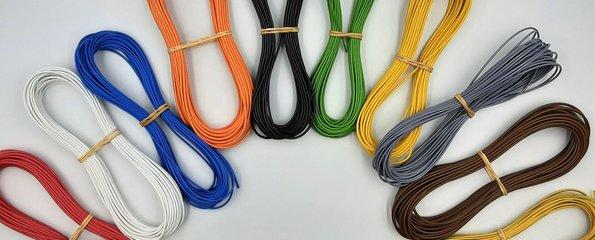 Voertuigkabel per 10 meter in  vele kleuren
