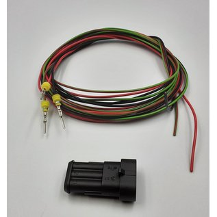 TE Connectivity AMP Superseal 1.5 Pigtail-set  3-Pos. Tab (vrouw) connector + 3x 2m. FLRY-B  - 0,75mm2