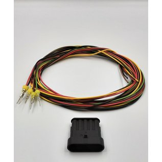 TE Connectivity AMP Superseal 1.5 Pigtail-set  met 5-Pos. Tab (vrouw) connector + 5x 2m. FLRY-B  - 0,75mm2