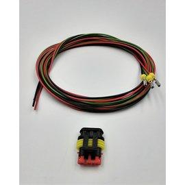 TE Connectivity AMP Superseal 1.5 set: 3-Pos.Plug (man) + 3x 2meter 0,75mm2