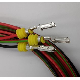 TE Connectivity AMP Superseal 1.5 Pigtail-set: 3-Pos. Tab (man) connector + 3x 2m. FLRY-B  - 0,75mm2