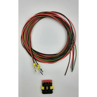 TE Connectivity AMP Superseal 1.5 Pigtail-set: 4-Pos. Plug (man) connector + 4x 2m. FLRY-B  - 0,75mm2