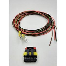 TE Connectivity AMP Superseal 1.5 set: 4-Pos. Plug (man) + 4x 2meter 0,75mm2