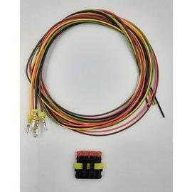 TE Connectivity AMP Superseal 1.5 set: 5-Pos. Plug (man) + 5x 2meter 0,75mm2