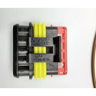 TE Connectivity AMP Superseal 1.5 Pigtail -set 5-Pos. Plug (man) connector + 5x 2m. FLRY-B  - 0,75mm2