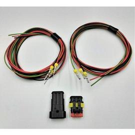 TE Connectivity AMP Superseal 1.5 set: 3-Pos. Tab & Plug + 6x 2meter 0,75mm2