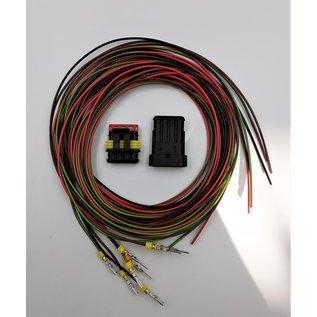 TE Connectivity AMP Superseal 1.5 Pigtail set 4-Pos. Tab & Plug connector + 8x 2m. FLRY-B kabel  0,75mm2
