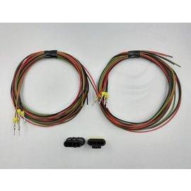 TE Connectivity AMP Superseal 1.5 set: 4-Pos. Tab & Plug + 8x 2meter 0,75mm2