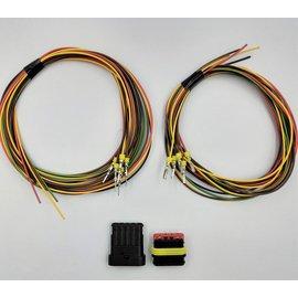TE Connectivity AMP Superseal 1.5 set: 5-Pos. Tab & Plug + 10x 2meter 0,75mm2
