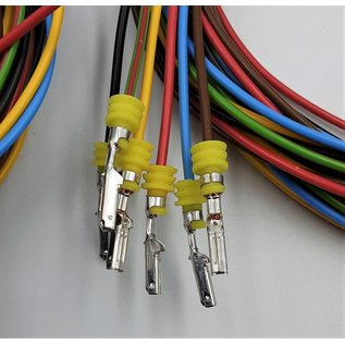 TE Connectivity AMP Superseal 1.5 Pigtail-set 6-Pos.Tab & Plug connector + 12x 2m. FLRY-B kabel 0,75mm2