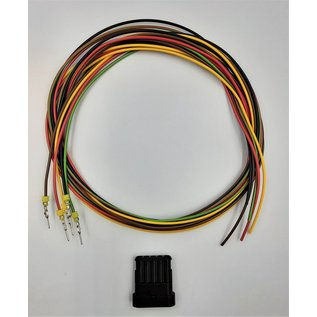 TE Connectivity AMP Superseal 1.5 Pigtail-set:  5-Pos. Tab (vrouw) connector + 5x 2m. FLRY-B  - 1,5mm2