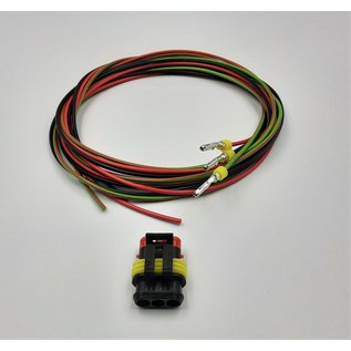 TE Connectivity AMP Superseal 1.5 Pigtail-set: 3-Pos. Tab (man) connector + 3x 2m. FLRY-B  - 1,5mm2