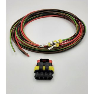 TE Connectivity AMP Superseal 1.5 Pigtail-set: 4-Pos. Plug (man) connector + 4x 2m. FLRY-B kabel  - 1,5mm2