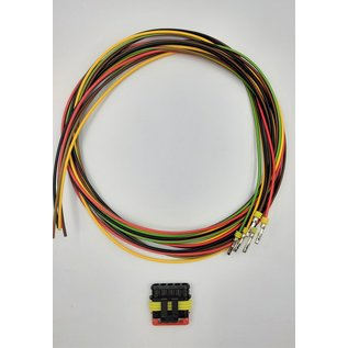TE Connectivity AMP Superseal 1.5 Pigtail-set met 5-Pos. Plug (man) connector + 5x 2m. FLRY-B  - 1,5mm2